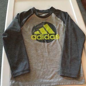 Boys Adidas Long Sleeve Gray shirt.  Size 5